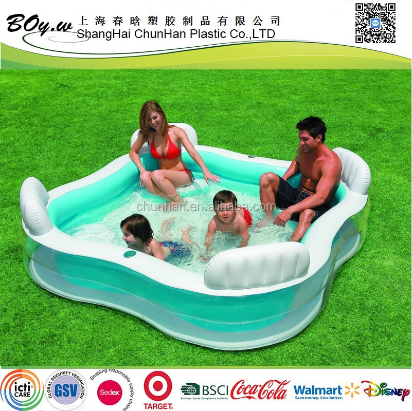 factory ECO-friendly OEM four seats swmming giant pvc family inflatable pool