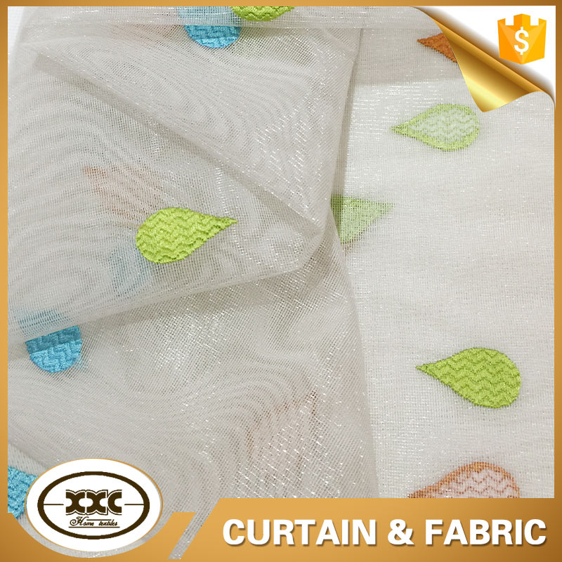 factory direct modern style linen embroidered fabric
