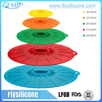 Amazon Silicone Pot Cover Lid, Silicone Spill Stopper Lid, Silicone Cover Lid