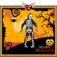 2016 New Sexy Halloween Costumes Kids Cosplay Carnival Halloween Skeleton Costumes For Kids Boys