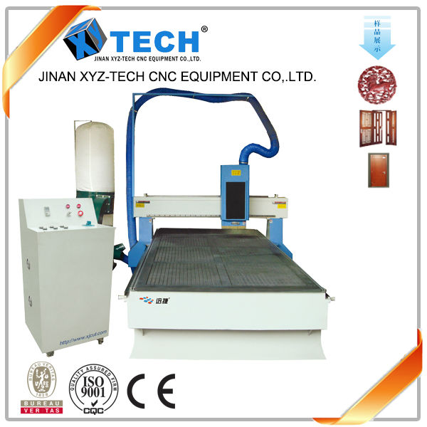 hobby spindle motor dust collector and Vacuum table woodworking cnc router