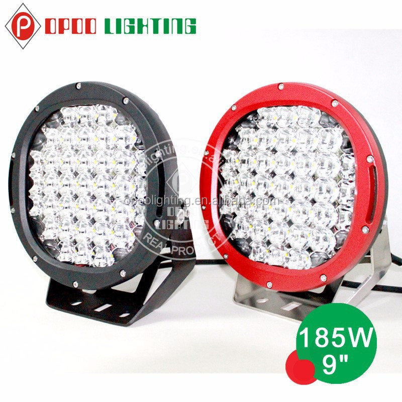 2015 hot led spotlight 4x4 car accessories, 9 inch 185w led spotlight