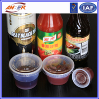 1-5oz transparent plastic cup for food