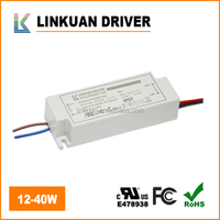 UL Listed waterproof dustproof IP65 brand led driver 36w 900mA 40v for led tri-proof light with surge test>6KV