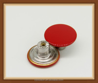 jeans button, brass shank button in red