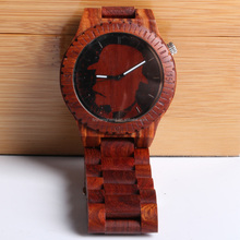Quality unisex high-end natural watch case wood wall wood watch