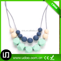 Soft Silicone Baby Teether Necklace For Mom to wear