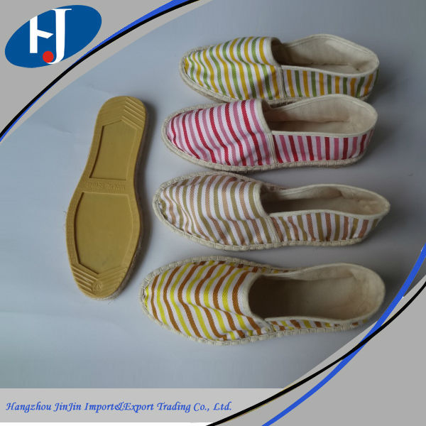 Factory direct sales all kinds of espadrilles shoes, lady sexy casual espadrille