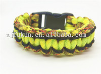 New Design Micro Parachute Rope Insert Cobra Weave Emergency Survival Kit Cobra Weave Survival Paracord Bracelet