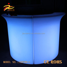 Corner plastic color changing portable led bar counter/corner led counter table from China