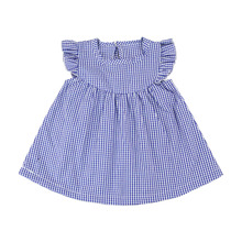 baby wear cotton clothes hot pictures solid and fluter sleeve dress designs teenage girls