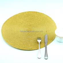 round gold placemats