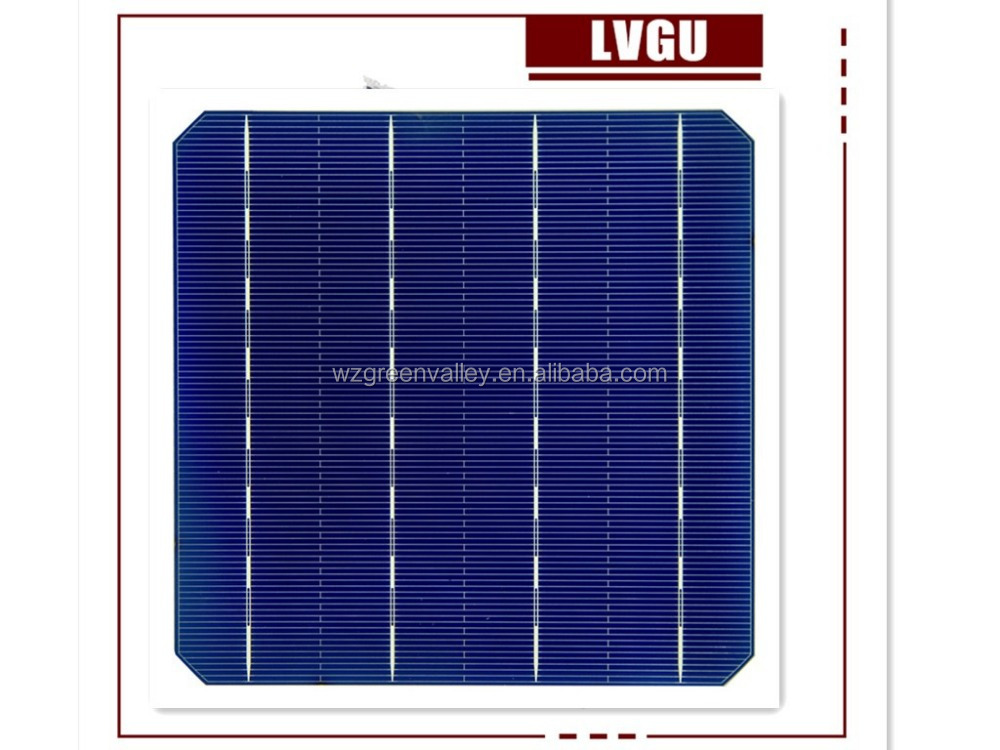 sale direct china cheap price 156*156mm A grade 4BB 20.2 % high efficiency Monocrystal Silicon Solar cell for solar panel