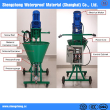 Cement mortar pu spray machine for construction project