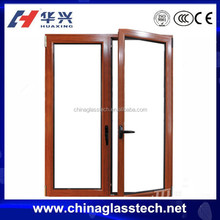 CE certificate space saving metal double doors exterior
