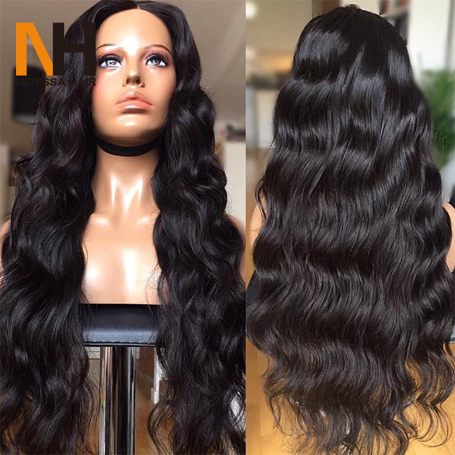 Glueless Lace Wig With Baby Hair Unprocessed Virgin Body Wave Brazilian Lace Front Wigs For Black Women Human Hair Full Lace Wig