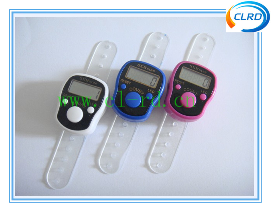 Wholesale Ring Hand Tally Counter Muslim LED Finger Lap Counter