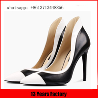 Factory wholesale individuality fashion black and shing sliver butterfly high heels shoes