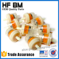 Hot Sell Plastic Motorcycle Fuel Filter 6mm 7mm Plastic Fuel Filter Clear Inline Gas Fuel Filter