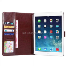 Lattice leather smart cover case for apple ipad air 2 with card slots