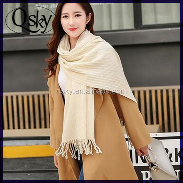 Swedish fashion brand AC fold wrinkle scarves pure color cashmere scarf