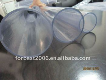 Transparent with 60mm 90mm,110mm OD PVC hard tube