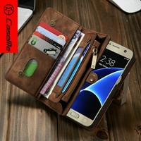 CaseMe for samsung galaxy s7 wallet case with ID card holder book wallet flip leather cover, for samsung galaxy s7 case