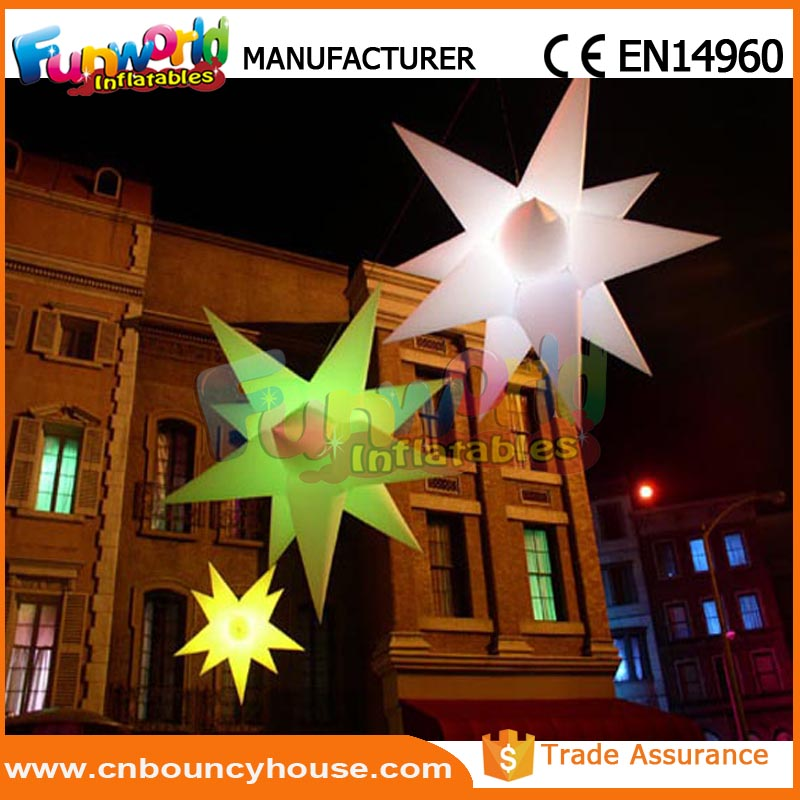 Wholesale Inflatable air led star inflatable wedding star for sale