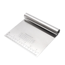 Stainless Steel Kitchen Food Dough Cake Pizza Pastry Scraper Chopper With Measuring <strong>Scale</strong>