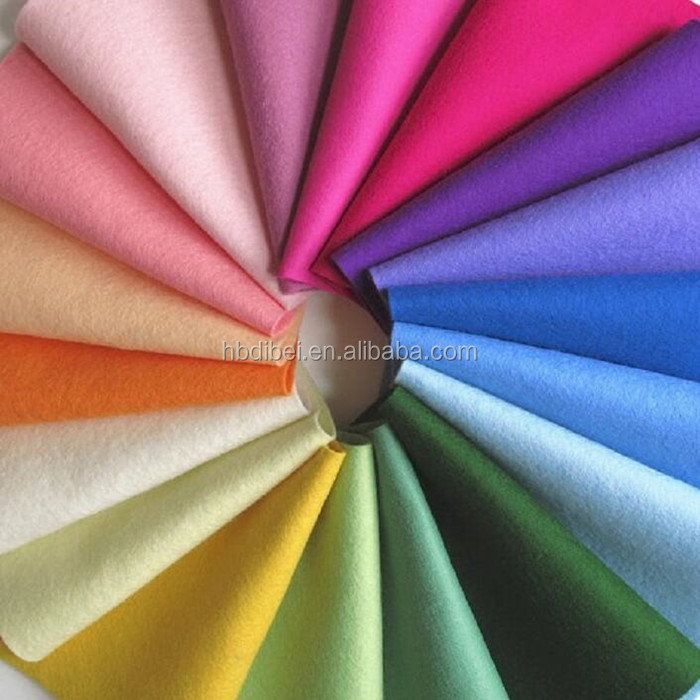 high quality nonwoven fabric 1mm colorful pet felt