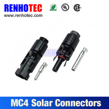 IP68 male and female solar pv mc4 cable connector