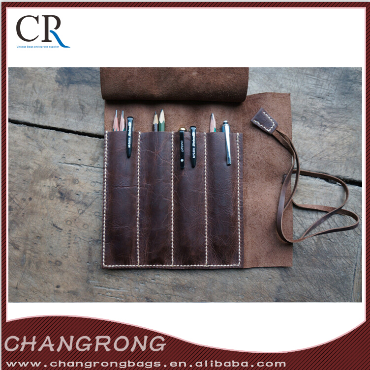 Genuine Leather Tool Rolls Leather Pencil Case