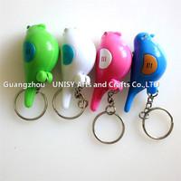 Fashion Bird Shape LED Key Finder Find Lost Key Chain Keychain Whistle Electronic Switch LED Whistle Key Finder