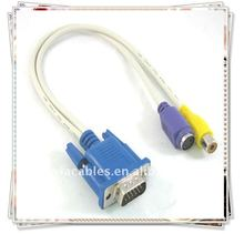 BRAND NEW High Quality VGA to RCA Composite / S-Video Adapter Cable