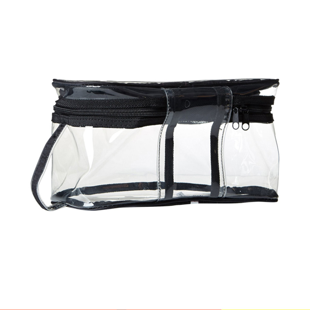 Packaging clear contents waterproof mini transparent pvc cosmetic bag with zipper