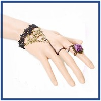 china supplier 2016 factory price lace bangle with flower ring jewellery wholesale new gold bracelet models