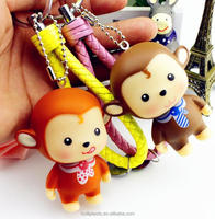 oem plastic pvc keychain, custom cartoon keychain in bulks, Personalized Soft Pvc 3D keychain