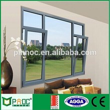 Shanghai factory price Made in China new products double glass low-e aluminum tilt and turn window with quality control