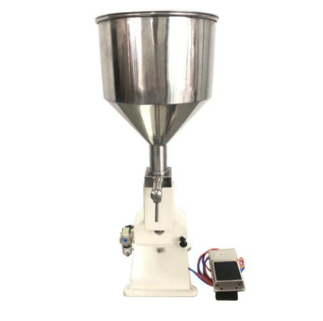 <strong>A02</strong> Full automatic Pneumatic Paste Piston Filling Machine/5-50ml Small Scale Pedal Paste Filler For liquid