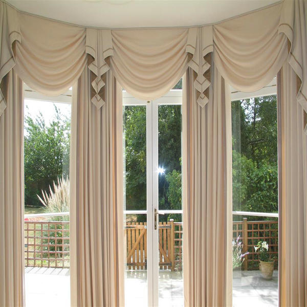 L shape Heavy beautiful balcony curtains for outdoors