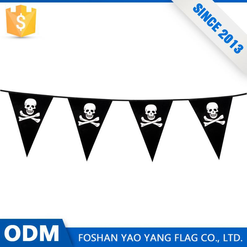 Low Price Products Custom Printed Pirates Pennant Bunting Flag
