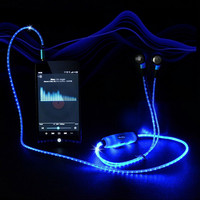Glowing headset for smartphone headphones LED lighting headset wholesale China earphone and headset