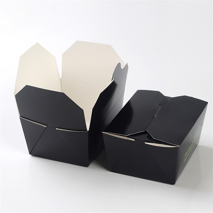 Take out  black cardboard boxes for food
