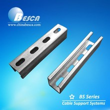 Perforated and steel Grade Zinc Plated C Strut Channel