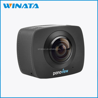 Factory OEM unique dual lens 360 degree sport action camera 360 video & photo camera with wrist