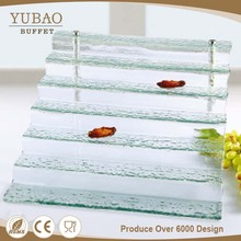 Restaurant Hotel Equipments Wholesale Glass Cake Stand , Glass Cake Stand