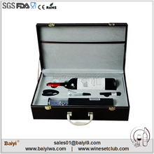 2014 Luxury Faux Leather Wine Carrier With Accessories From China Supplier