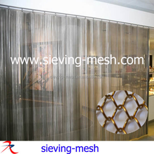 Metallic Coil Drapery/hanging Metal Mesh Curtain/interior Decorative Mesh Curtains(Tianhe factory)