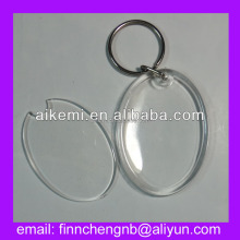 Promotional gift personalized plastic keychain photo holder,acrylic keychain custom souvenir,plastic keychain with logo