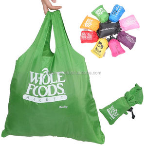 Promotional cheap custom printed polyester/nylon foldable shopping bag